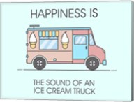 Ice Cream Truck Pink Fine-Art Print