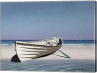 White Boat On Beach Fine-Art Print
