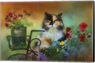 Calico In The Garden Fine-Art Print