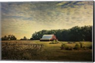 Red Barn At The Cotton Field Fine-Art Print