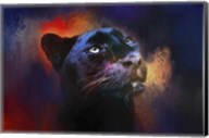 Colorful Expressions Black Leopard Fine-Art Print