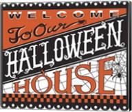 Halloween House Welcome Fine-Art Print
