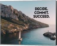 Decide Commit Succeed - Sailboat Color Fine-Art Print