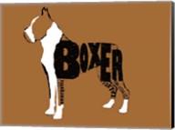 Boxer Word 2 Fine-Art Print