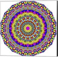 Hearts Mandala Glowing Fine-Art Print