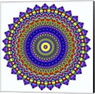 Nights Mandala in Blue Fine-Art Print