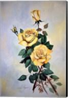 Yellow Roses Sprig Fine-Art Print