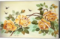 Yellow Roses with Bees Fine-Art Print