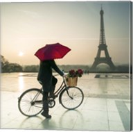 Bike & Red Umbrella Fine-Art Print