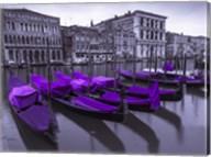 Purple Gondolas 1 Fine-Art Print