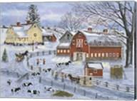 Dairy Farm at Christmas Fine-Art Print