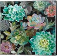 Floral Succulents v2 Crop Fine-Art Print