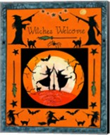 Witches Welcome Flag Fine-Art Print