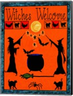 Witches Welcome Spell Flag Fine-Art Print