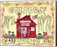 American Schoolhouse ABC 123 Fine-Art Print