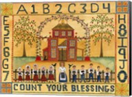 Count Your Blessings School Sampler Fine-Art Print