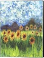 Sunflower Mountain Garden Flag Fine-Art Print