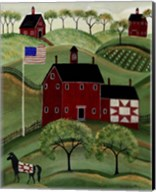 American Red Quilt House Fine-Art Print