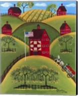 Red Apple Quilt Barns Fine-Art Print