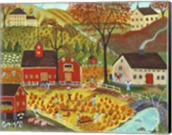 Country Farm Pumpkin Pickers Fine-Art Print