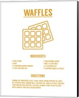 Waffle Recipe Yellow on White Fine-Art Print