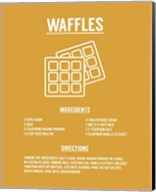 Waffle Recipe White on Yellow Fine-Art Print