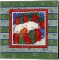 Scarf Snowman 2 Fine-Art Print