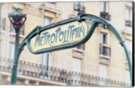 Art Nouveau Entrance of the Paris Metro Fine-Art Print