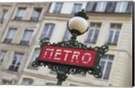Paris Metro Signpost Fine-Art Print