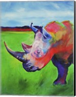 Painted Rhino Fine-Art Print