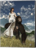 Ape And Girl Fine-Art Print