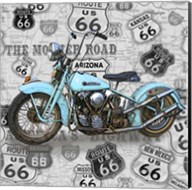 Vintage Motorcycles on Route 66-E Fine-Art Print