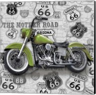 Vintage Motorcycles on Route 66-H Fine-Art Print