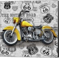 Vintage Motorcycles on Route 66-V Fine-Art Print