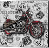 Vintage Motorcycles on Route 66-1 Fine-Art Print