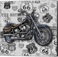 Vintage Motorcycles on Route 66-3 Fine-Art Print