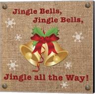 Christmas on Burlap - Jingle Bells Fine-Art Print