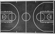 Basketball Court Chalkboard Background Fine-Art Print