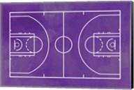 Basketball Court Purple Paint Background Fine-Art Print