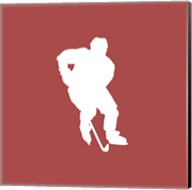 Hockey Player Silhouette - Part I Fine-Art Print