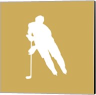 Hockey Player Silhouette - Part IV Fine-Art Print