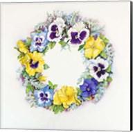 Pansy Wreath Fine-Art Print
