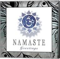 Chakras Yoga Framed Namaste V3 Fine-Art Print