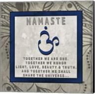 Chakras Yoga Tile Namaste V4 Fine-Art Print