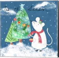 Xmas Mouse Fine-Art Print