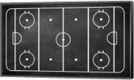 Ice Hockey Rink Chalkboard Fine-Art Print