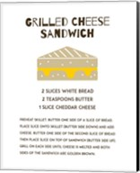 Grilled Cheese Sandwich Recipe White Fine-Art Print