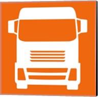 Front View Trucks Set I - Orange Fine-Art Print
