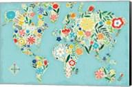 Floral World Blue Fine-Art Print