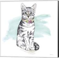 Fancy Cats I Watercolor Fine-Art Print